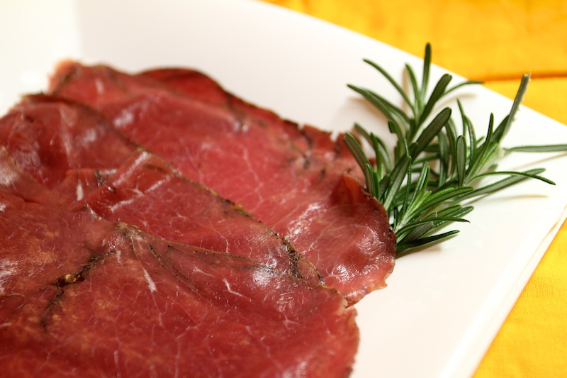 carpaccio di black angus marinato